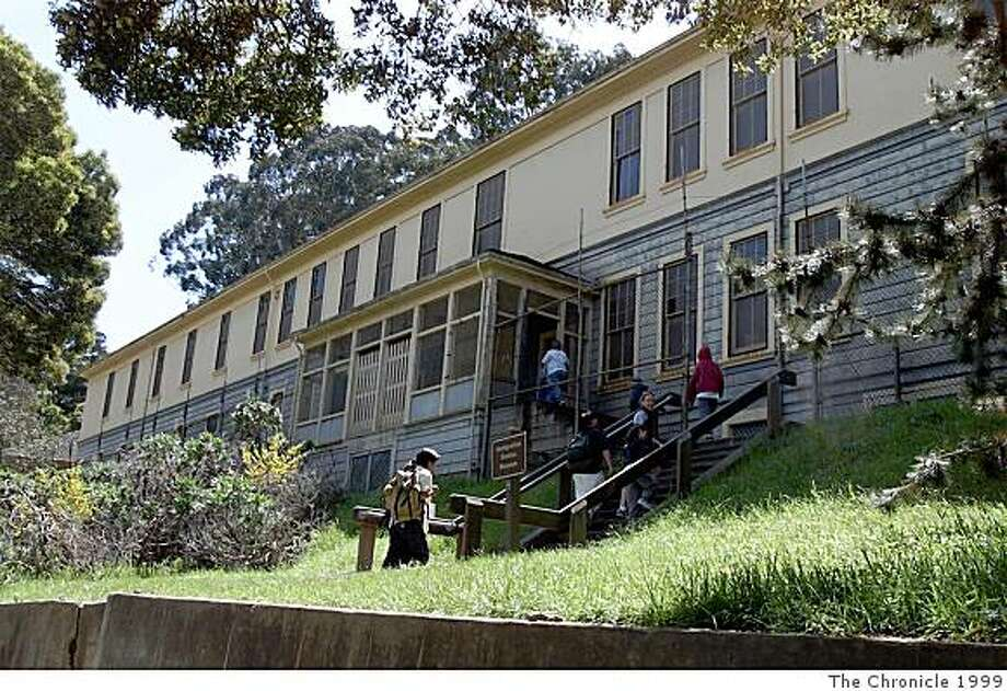 The Immigration Station barracks on Angel Island on April 2, 1999. Photo: Sam Deaner, The Chronicle 1999