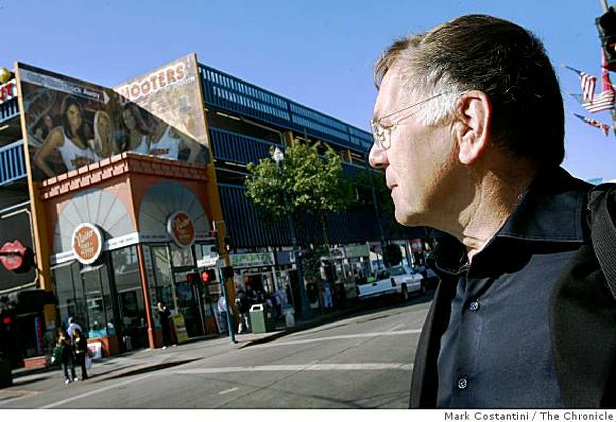 Jan Gehl , a Danish planner who the city has hired as a consultant to spiff up the city, looks over Fisherman's Wharf in San Francisco, Calif., on Thursday, October 9, 2008