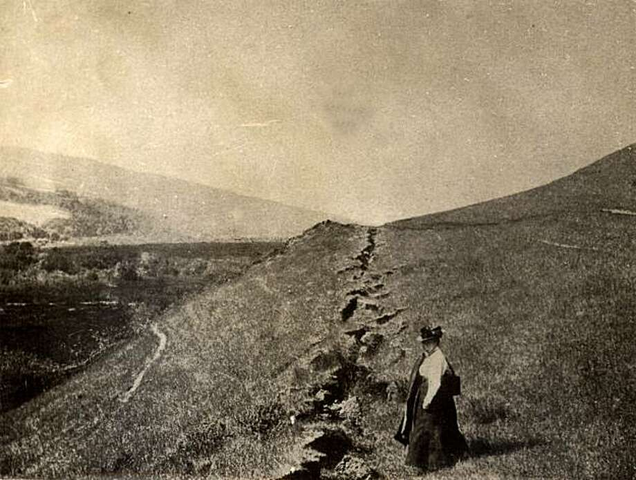 West Marin, 1906. Fissures in the Olema area were caused by the 1906 earthquake. Courtesy Anne T. Kent California Room Photo: Courtesy Anne T. Kent CA Room, Marin County Free Library