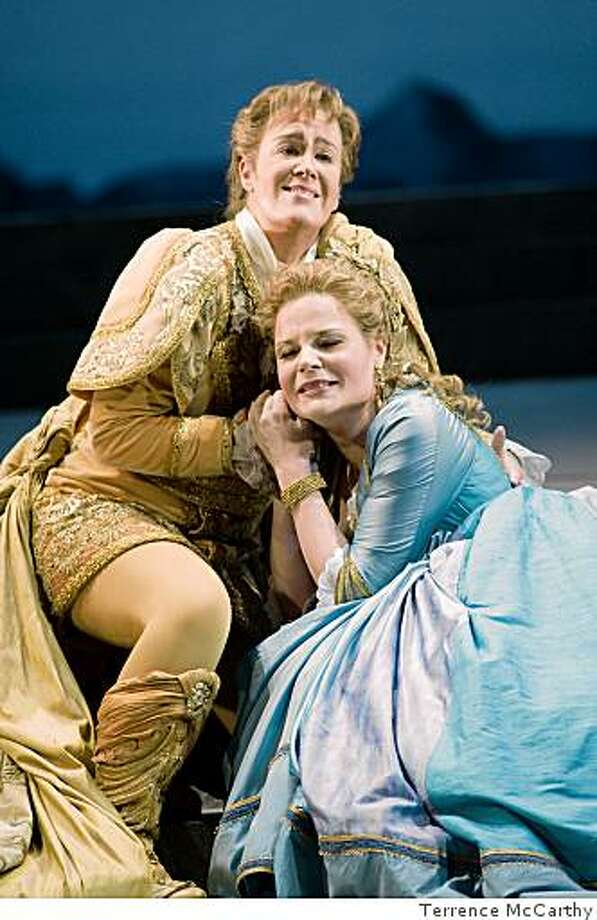 Alice Coote (Idamante) and Genia K?hmeier (Ilia) in SF Ballet Idomeneo. Photo: Terrence McCarthy