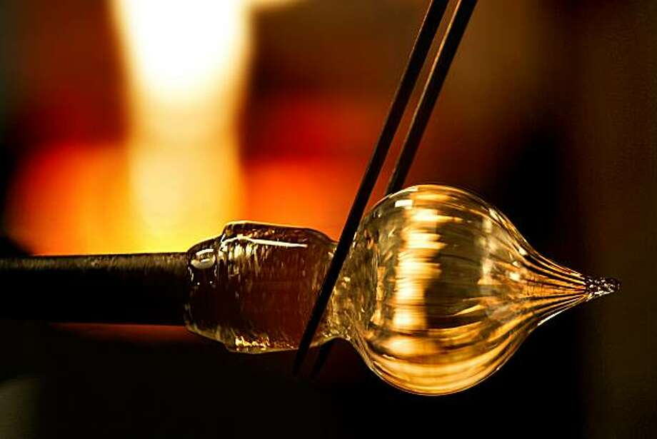 An ornament being made at Public Glass in San Francisco. Photo: Chris Hardy, The Chronicle