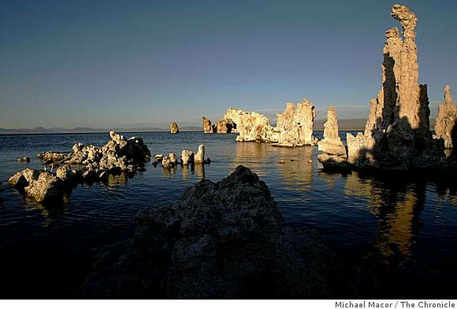Tufa formations are seen at Mono Lake on the eastern side of the Sierra Nevada mountain range on September 28, 2007. Photo: Michael Macor, The Chronicle