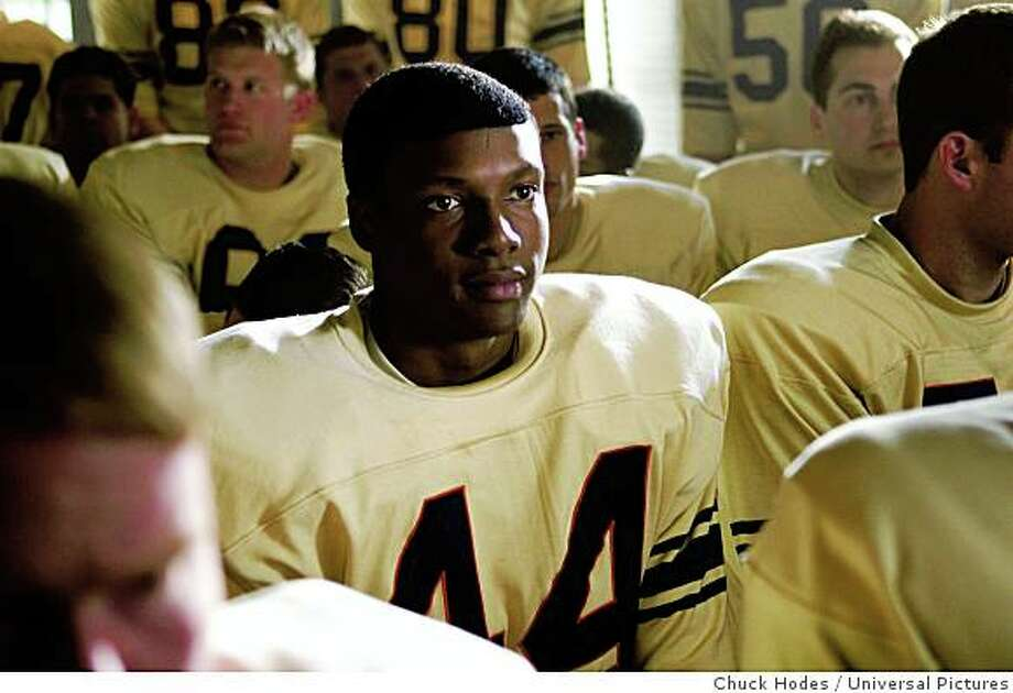 "Rob Brown in ""The Express,"" about Ernie Davis, the first African American Heisman Trophy winner. Photo: Chuck Hodes, Universal Pictures"