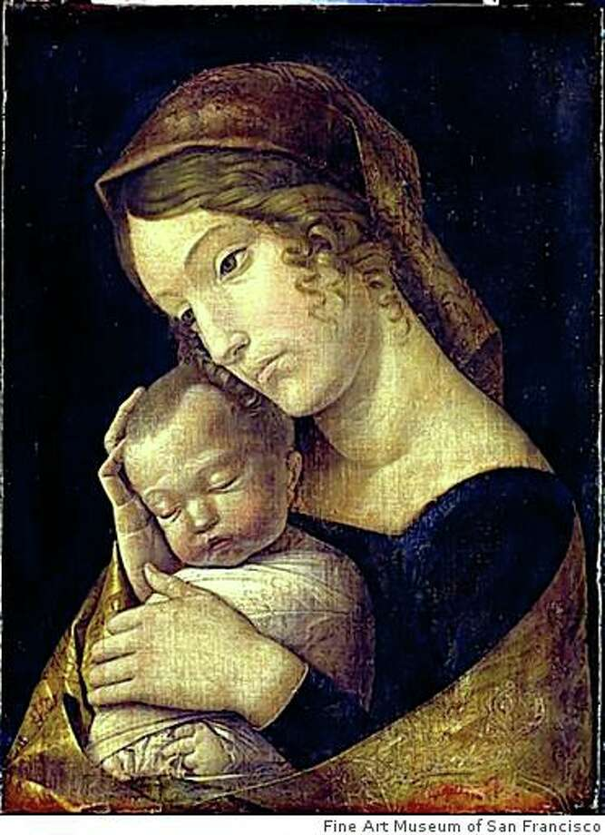"""""""The Virgin With the Sleeping Child"""" (1465/70) oil on canvas by Andrea Mantegna. emaldegallerie Berlin. Acquired from James Simon, 1904. Part of the State Museums of Berlin and the Legacy of James Simon exhibition at the Legion of Honor, opening Oct. 18, 2008. Photo: Fine Art Museum Of San Francisco"""