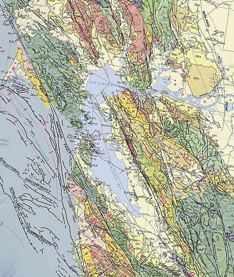 State Geological Survey Issues New Seismic Maps SFGate - California geologic map