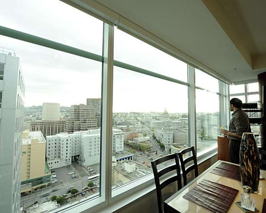 Tony Jarjoura in his SoMaGrand apartment for Real Estate cover story Ashley Munro Sf.BlockShopper.com Photo: Ashley Munro, Sf.BlockShopper.com