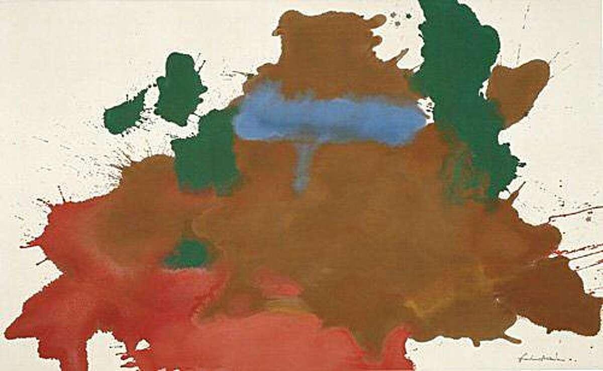 """Mountain Pool"" (1963) acrylic on canvas by Helen Frankenthaler 48.5 x 78.75"""