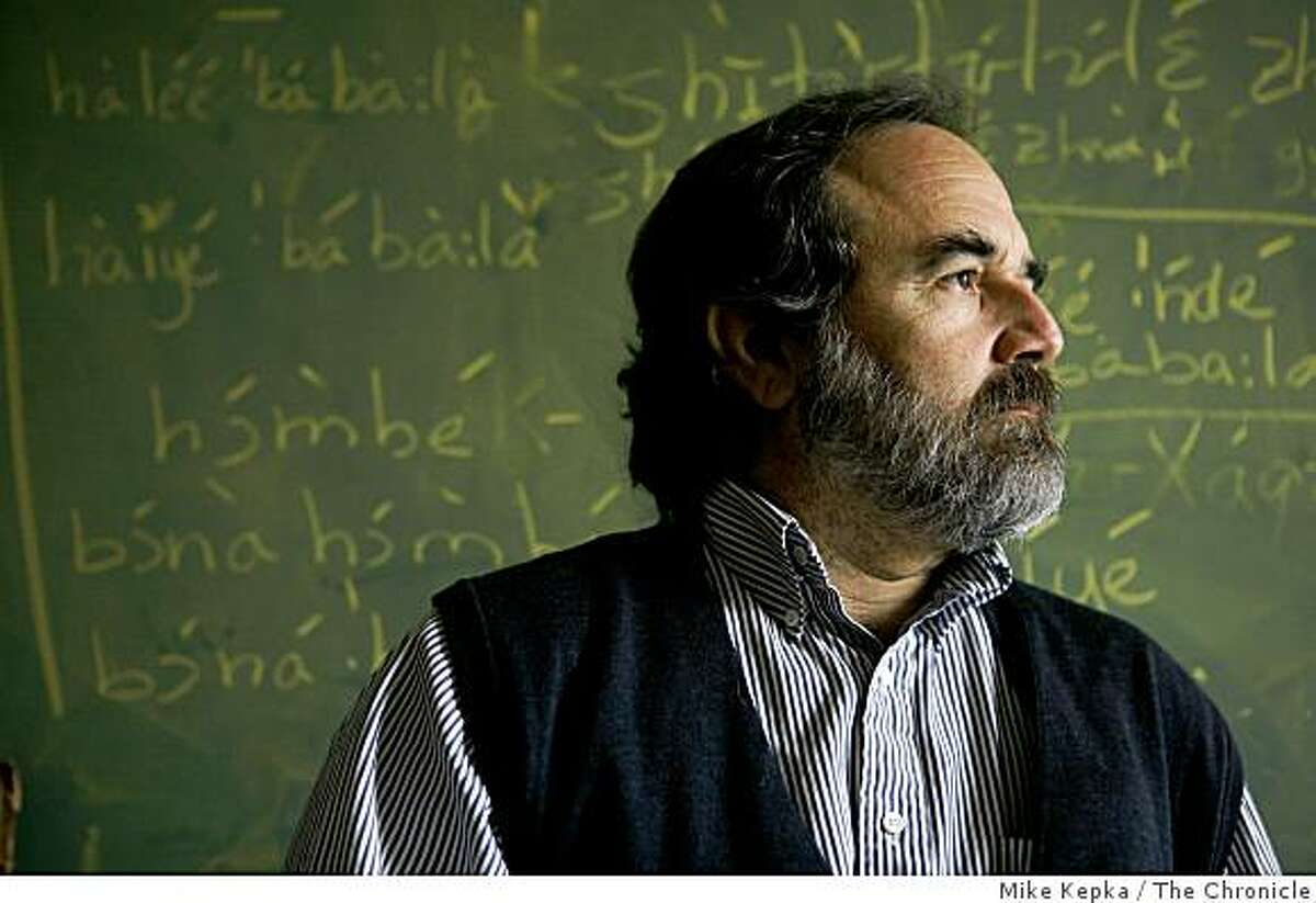 U.C. Berkeley linguistics professor, Larry Hyman poses for a portrait on Wednesday Sept. 10, 2008 in Berkeley,Calif. He is studying an unwritten language called, Nzadi with the help of his undergraduate Linguistics class