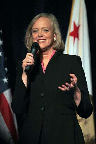 Gubernatorial candidate Meg Whitman speaks at the banquet of the California Republican Party 2010 Spring Convention in the Santa Clara Hyatt Regency and Convention Center in Santa Clara, Ca., on Friday, March 12, 2010. Photo: Liz Hafalia, The Chronicle