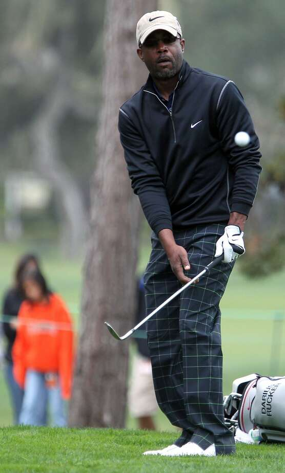 Singer Darius Rucker chips onto the seventh green at the Monterey Peninsula Country Club during the second round of the AT&T Pebble Beach National Pro-Am golf tournament in Pebble Beach, Calif., Friday, February 10, 2012. Photo: Lance Iversen, The Chronicle