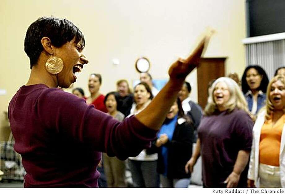 Choir Director Eileen Deadwiler directs the Jubilee Christian Center Choir in rehearsal at the Jubilee Christian Center, in San Jose, Calif. on  Thursday Sept. 18, 2008 Photo: Katy Raddatz, The Chronicle