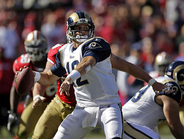 Kyle Boller passed for 108 yards against the 49ers. The San Francisco 49ers played the St. Louis Rams at Candlestick Park in San Francisco on Sunday. Photo: Carlos Avila Gonzalez, The Chronicle