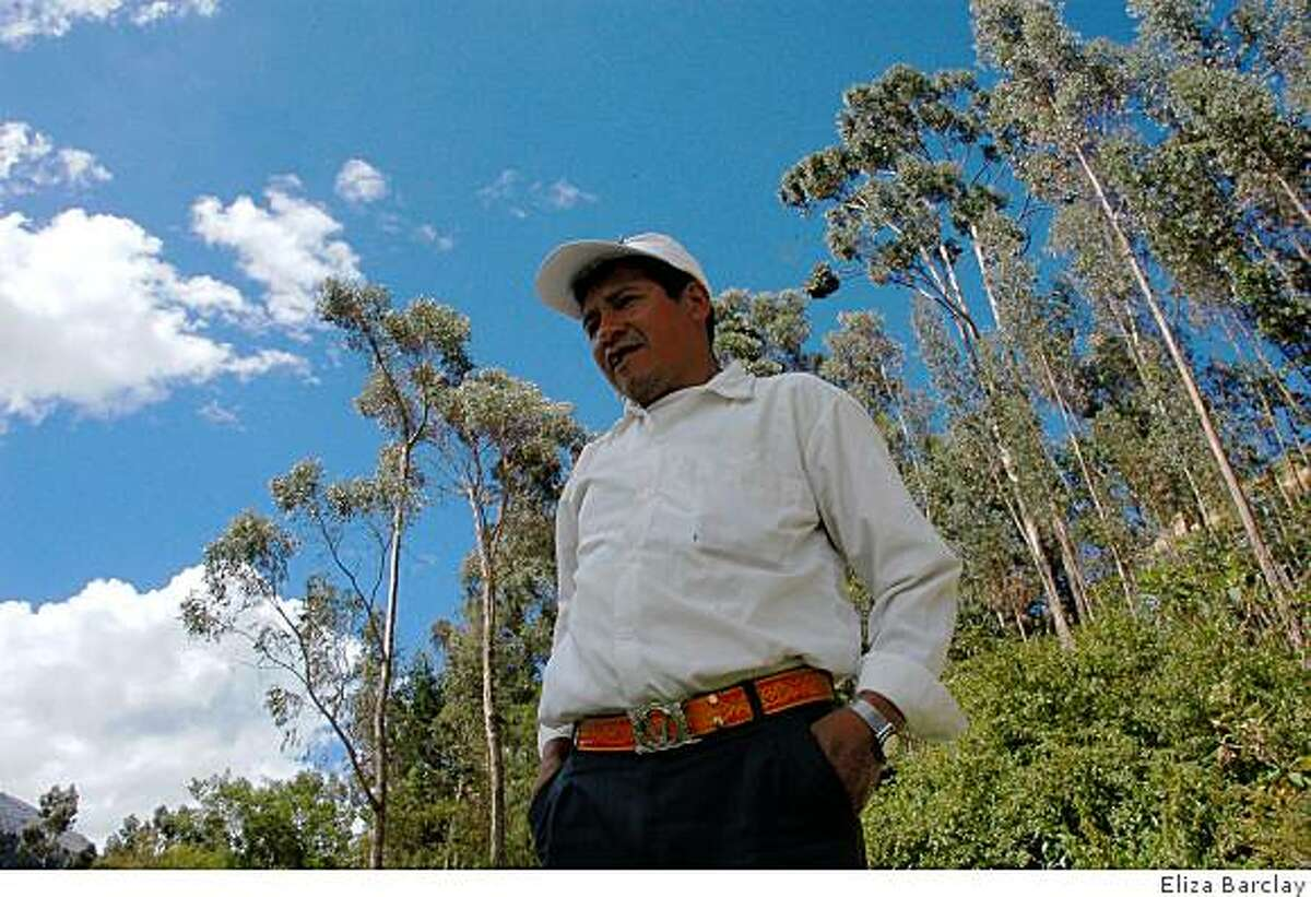 Gregorio Huanuco, 48, has seen his crops ravaged by pests, diseases, and water scarcity as a result of global climate change. Temperature in the Peruvian Andes is increasing at a rate two times the global average.