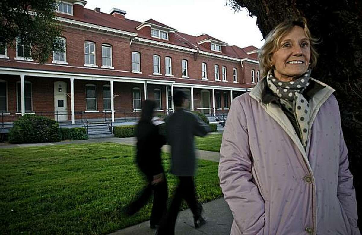 Nancy Bechtle, is the new chair of the Presidio Trust's Board of Directors. Outside the row of buildings along the Main Post at The Presidio on Friday January 08, 2010, in San Francisco, Calif.