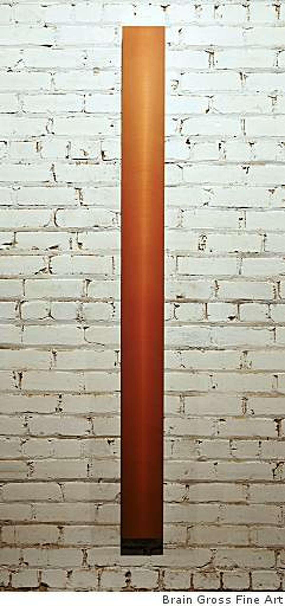 """""""2008-14"""" (2008) acrylic polyurethan on sanded aluminum by Roy Thurston; 72"""" x 6"""" x 2"""""""
