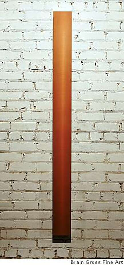 """""""2008-14"""" (2008) acrylic polyurethan on sanded aluminum by Roy Thurston; 72"""" x 6"""" x 2"""" Photo: Brain Gross Fine Art"""