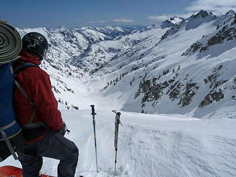 16a0ae3b5 Chet Kyle sees nothing but untouched snow from his perch in the Trinity  Alps Photo: