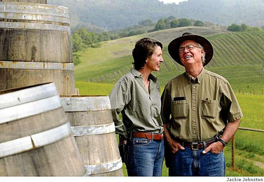 Earl and Hilda Jones of Abacela Winery. Photo: Jackie Johnston