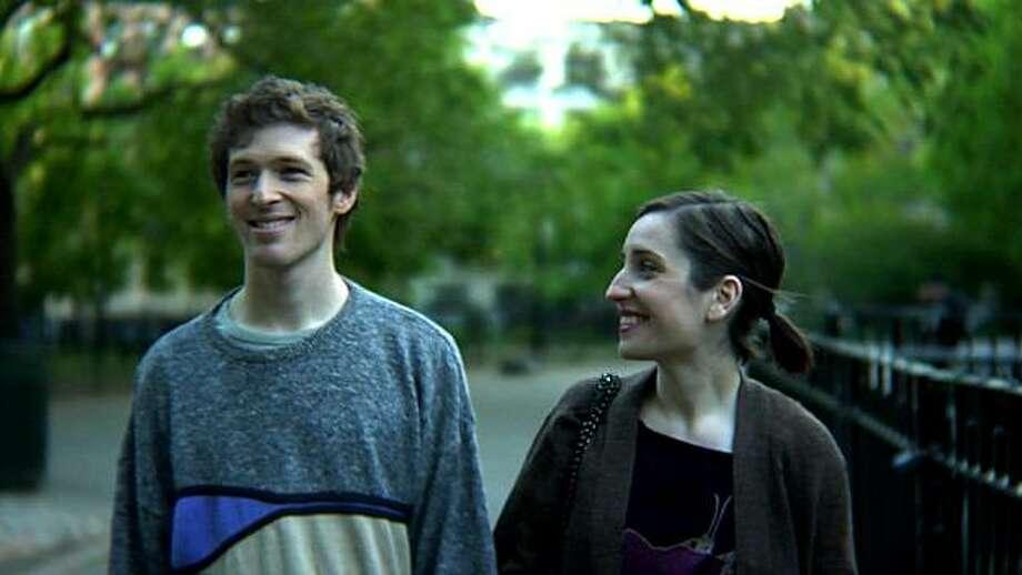 """Dayl Wein and Zoe Lister Jones appear in a scene from, """"Breaking Upwards."""" Photo: IFC Films"""