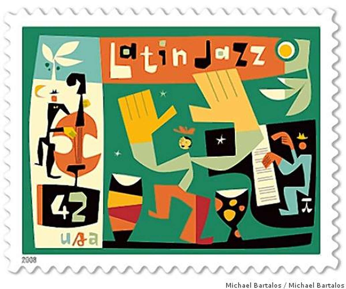 Michael Bartalos's new Latin Jazz 42 cent stamp designed for the US Postal Service. it was just released this month, September 2008