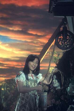 "Fantasy (left, played by Kumiko Oba) in Nobuhiko Obayashi's 1977 cult classic ""House."" Photo: Janus Films"