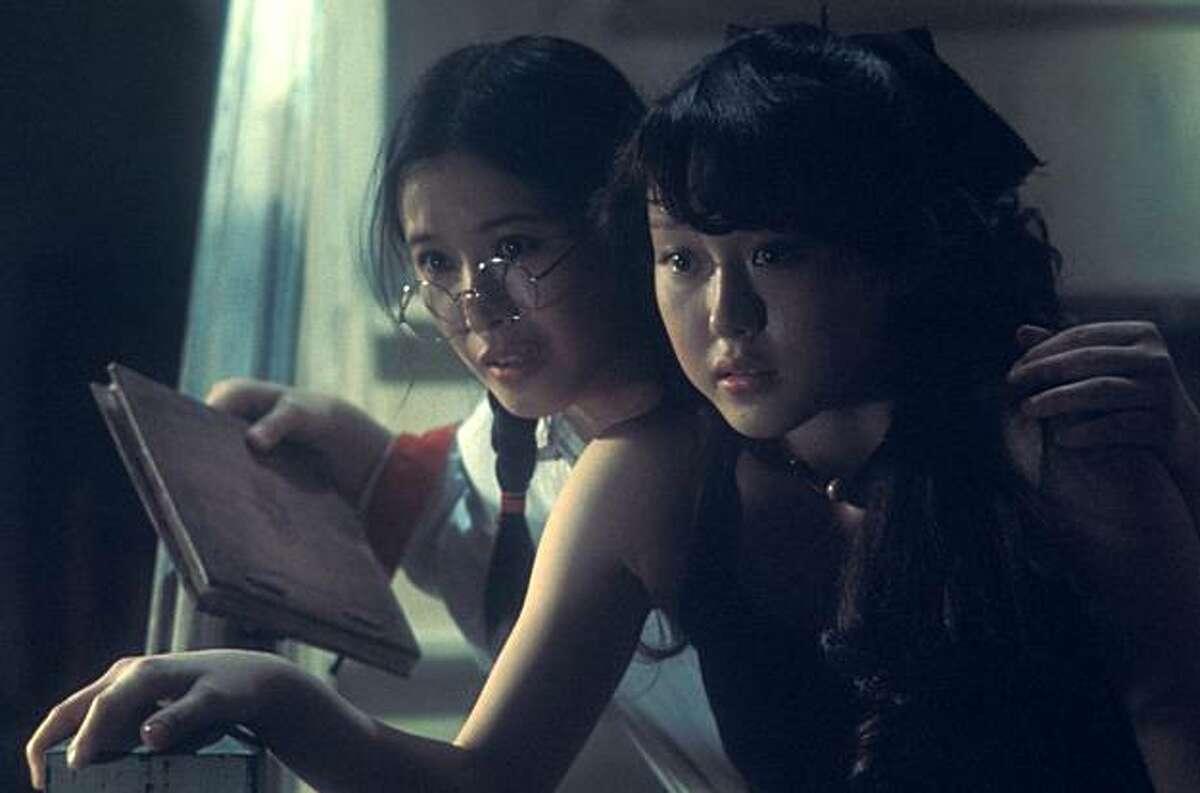 "Prof (left, played by Ai Matsubara) and Sweet (Masayo Miyako) in Nobuhiko Obayashi's 1977 cult classic ""House."""