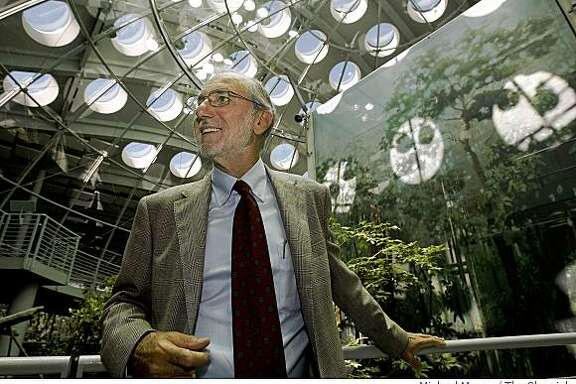 Renzo Piano, the architect of the California Academy of Sciences in Golden Gate Park in San Francisco, Calif. is in town to survey the just completed project, Thursday Sept. 25, 2008. Piano inside  the Rain Forest Dome, a centerpiece of the the new building.