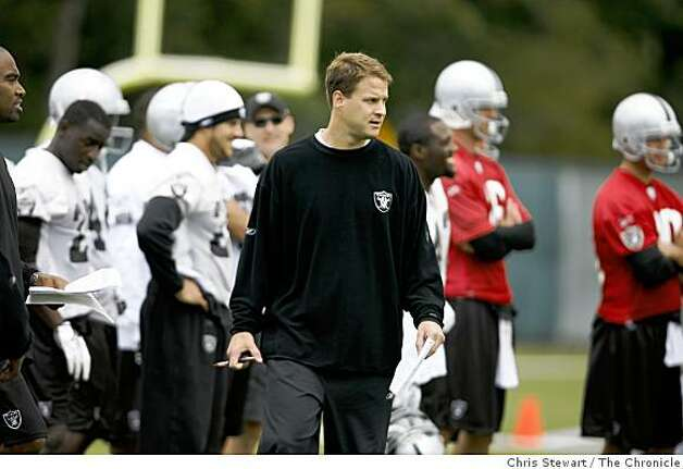 Oakland Raiders head coach Lane Kiffin during a mini-camp at their Alameda headquarters on May, 4, 2007. Photo: Chris Stewart, The Chronicle