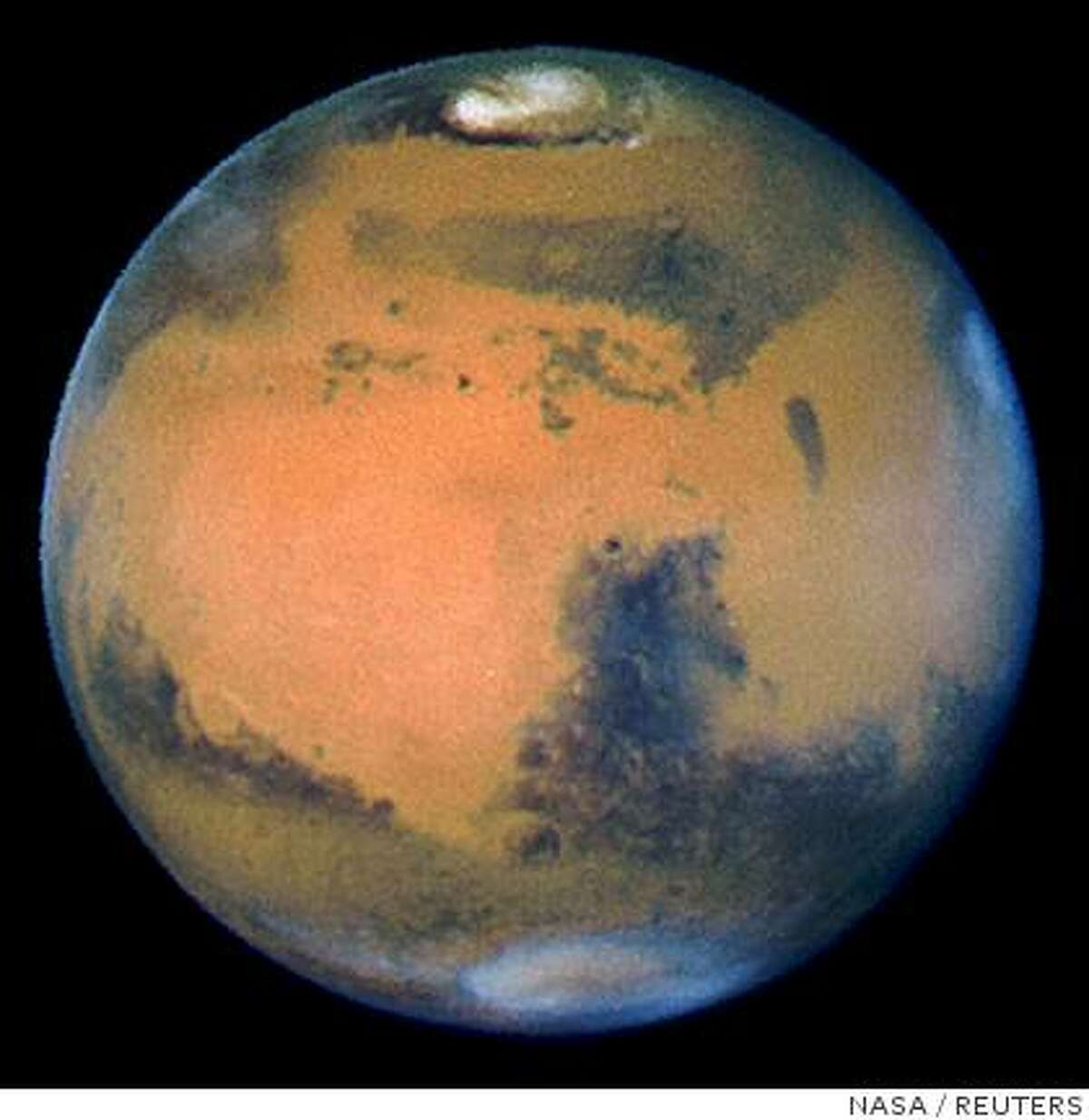 The planet Mars is pictured in this March 10, 1997 Hubble Space Telescope file photograph.