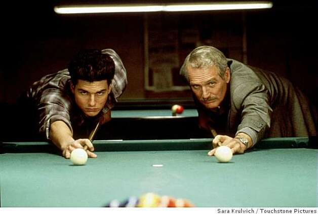 "Paul Newman (right) and Tom Cruise in the 1986 film ""The Color of Money,"" for which Newman won an Oscar for best actor. Photo: Sara Krulwich, Touchstone Pictures"