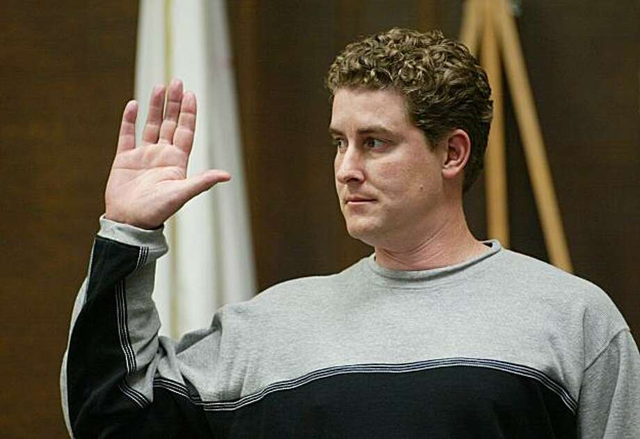 FILE - In this Feb. 4, 2004  file photo, Timothy White is sworn in before testimony in the trial of  Kenneth Parnell in Alameda County Superior Court in Oakland, Calif. Timothy White, the youngest victim and last survivor of a notorious California kidnapping saga, has died. He was 35. (AP Photo/The Oakland Tribune, Nick Lammers, File) MAGS OUT, MANDATORY CREDIT Photo: Nick Lammers, Oakland Tribune 2004