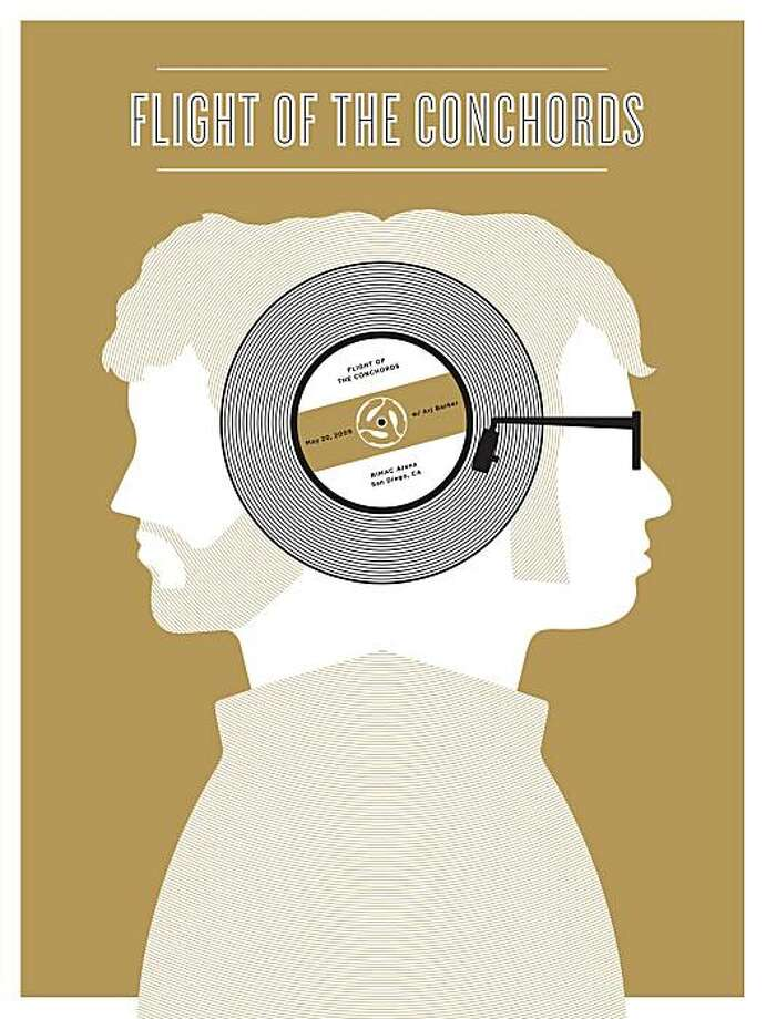 Flight of The Conchords, concert poster Photo: Jason Munn, The Small Stakes, Chronicle Books