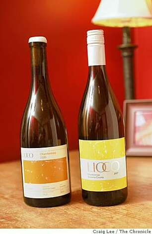 2006 Lioco Chardonnay, Sonoma Coast (left), and 2007 Lioco Chardonnay, Sonoma County (right), in San Francisco, Calif., on September 15, 2008. Photo: Craig Lee, The Chronicle