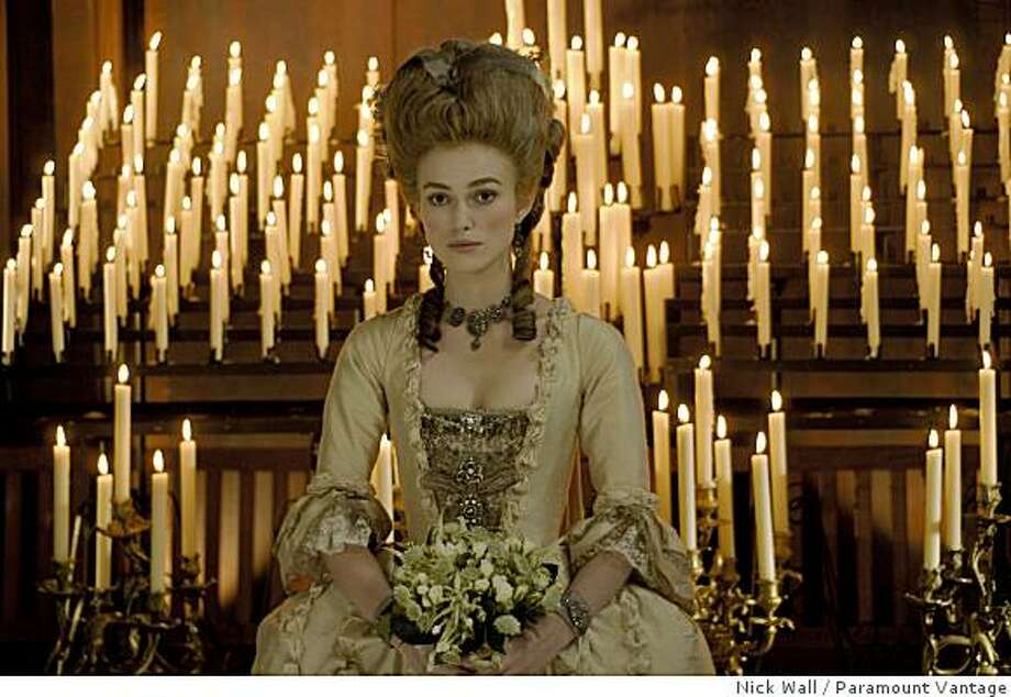 "Keira Knightley as ""Georgiana, The Duchess of Devonshire"". Photo: Nick Wall, Paramount Vantage"