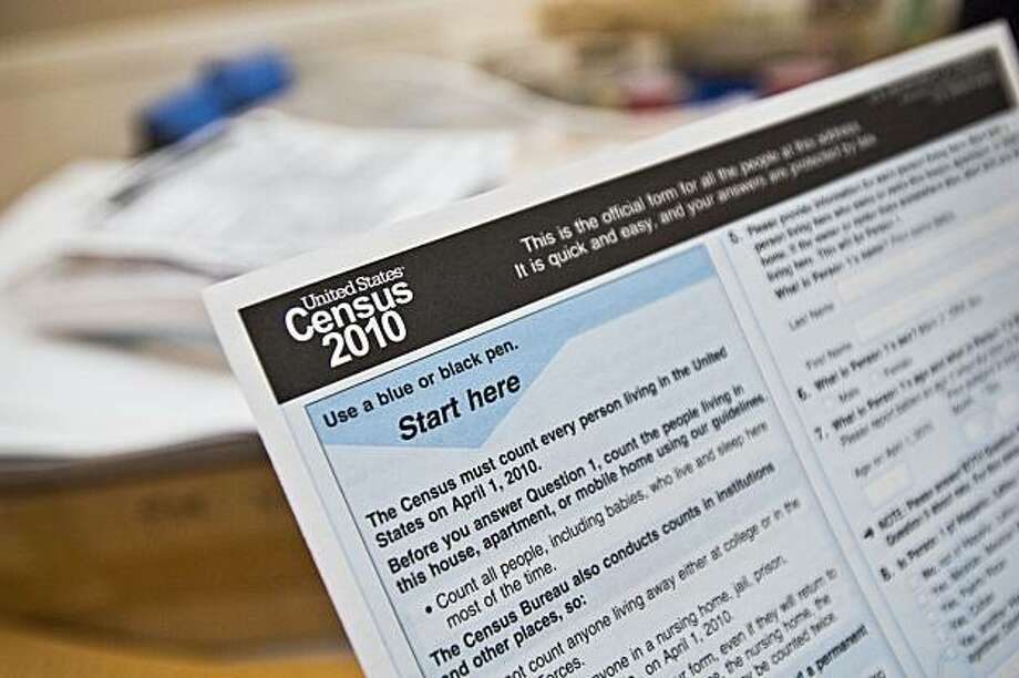 In this April 1, 2010 photo, a copy of a 2010 Census form is shown at a Census Day event at the Caldwell Housing Authority  in Caldwell, Idaho. Photo: Charlie Litchfield, AP