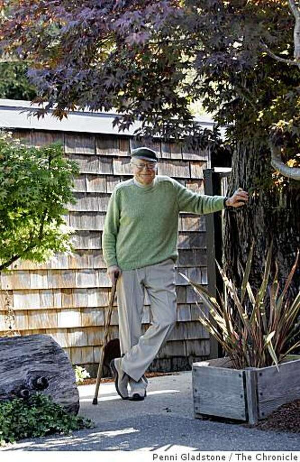 ROYSTON_garden Robert Royston stands below a beautiful Maple tree. Landscape architect Robert Royston at home. Royston is one of the first modern landscape architects focused on residential gardens Event on 10/11/06 in Mill Valley. Penni Gladstone / The Chronicle Photo: Penni Gladstone / The Chronicle