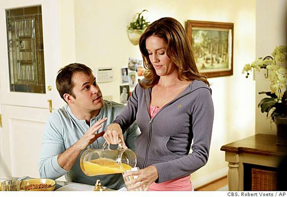 Kyle Bornheimer, left, and Erinn Hayes, are shown in a scene from,