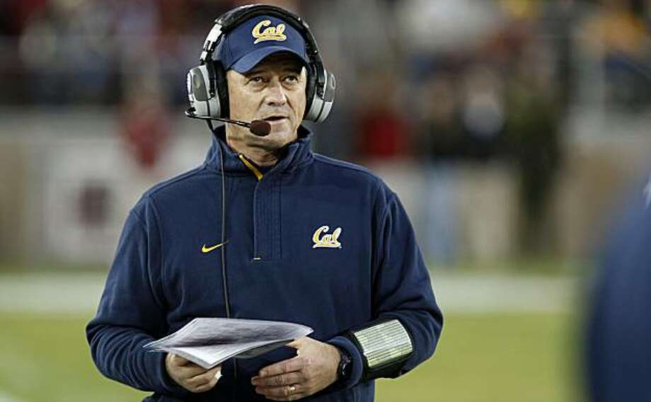 California's head coach Jeff Tedford keeps a close watch in Big Game action as the Golden Bears take the Stanford Cardinal 34-28 in Palo Alto, Calif.  on Saturday November 21, 2009. Photo: Michael Macor, The Chronicle