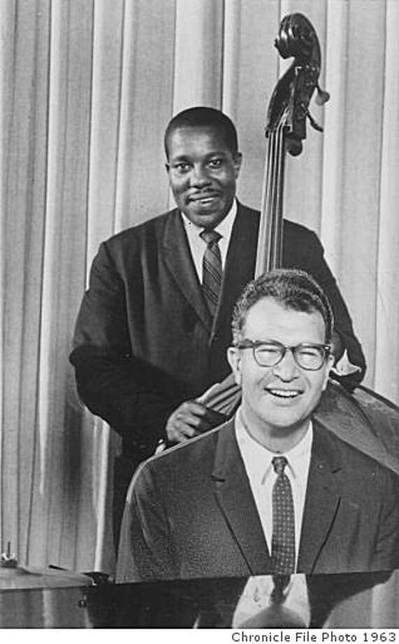 Left to right: Paul Desmond (alto sax), Joe Morello (drums), Gene Wright (bass) and Dave Brubeck (piano). In 1958, Brubeck turned down a $17,000 deal because his black bass player was not allowed to perform in that country. Photo: Chronicle File Photo 1963