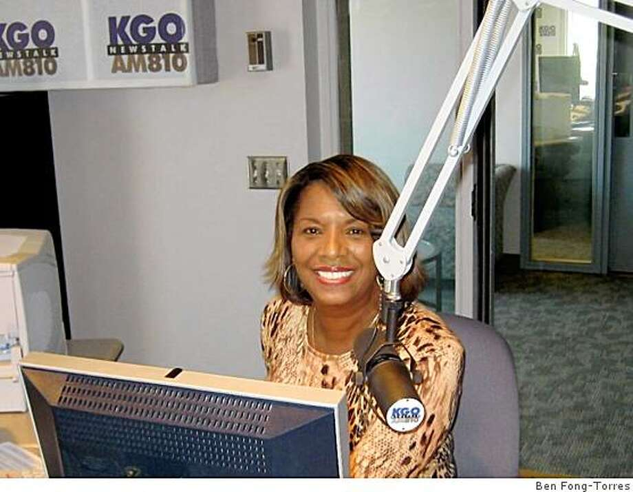 Rosie Allen at KGO radio (2008). Photo: Ben Fong-Torres