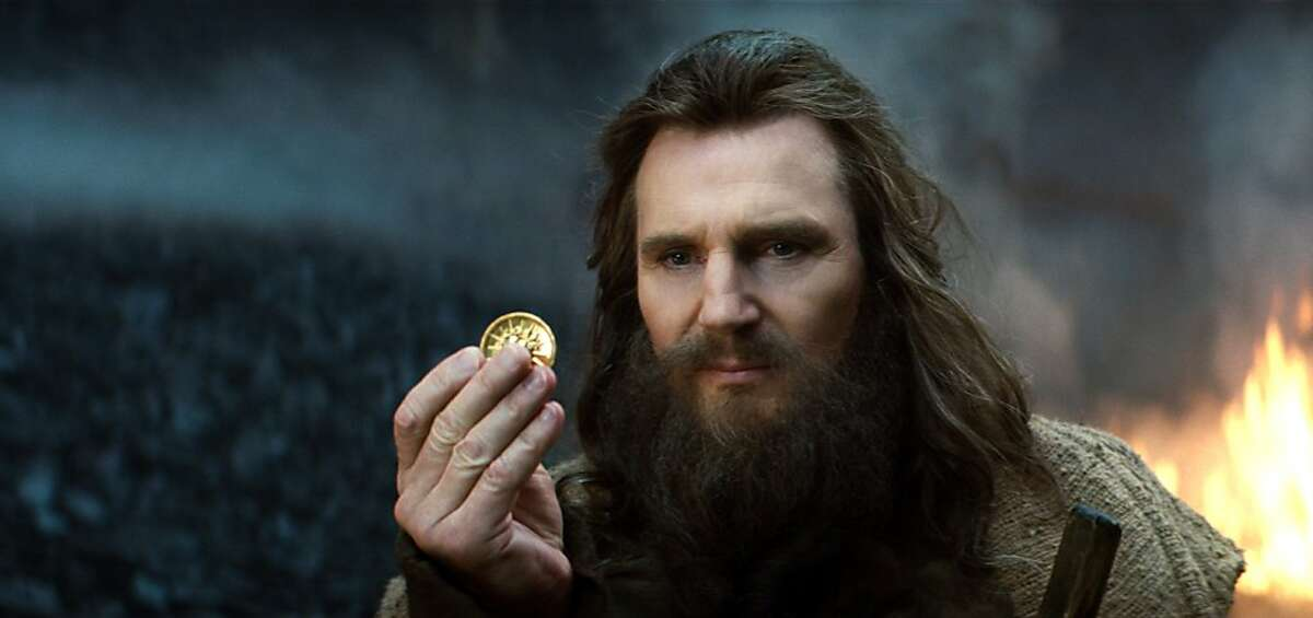 """LIAM NEESON as Zeus in Warner Bros. Pictures' and Legendary Pictures' """"Clash of the Titans,"""" distributed by Warner Bros. Pictures."""