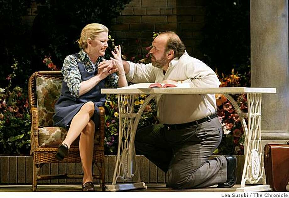 """Ren? Augesen and (l to r) and Jack Willis perform in """"Rock 'n' Roll"""" during the final dress rehearsal at ACT on Wednesday, September 10, 2008 in San Francisco, Calif. Photo: Lea Suzuki, The Chronicle"""