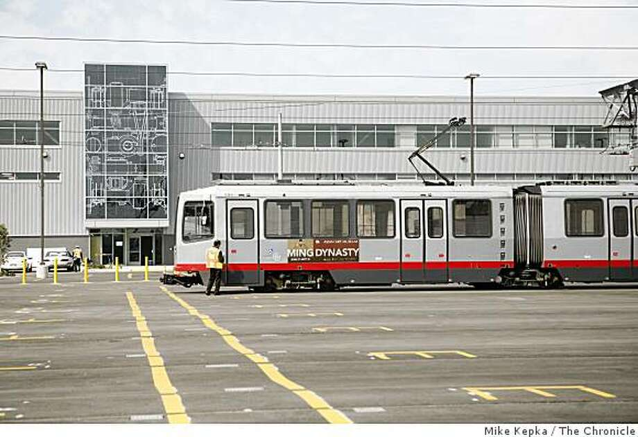 The San Francisco Municipal Railway's new streetcar maintenance facilty, shown on Tuesday Sept. 16, in San Francisco, Calif., will open its doors this week. The state-of-the-art shop on 25th Street promises to  help Muni improve service by making it easier to repair broken light-rail trains and get them out on the street faster. Photo: Mike Kepka, The Chronicle