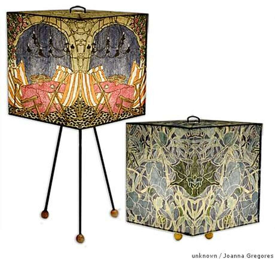 Plikami lamp shades from Joanna Gregores, of Paris, formerly SF and Portland, Ore. $90 and $95 Photo: Unknown, Joanna Gregores