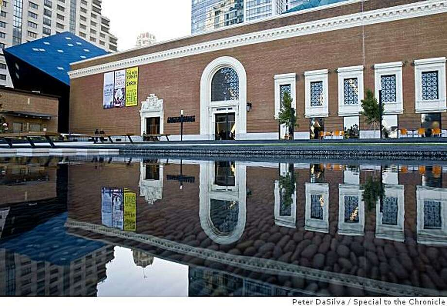 The reflecting pond in Jessie Plaza out front of the Contemporary Jewish Museum during the museums Gala Opening in San Francisco, California, Jun. 05, 2008.Photo By: Peter DaSilva/Special to the Chronicle Photo: Peter DaSilva, Special To The Chronicle