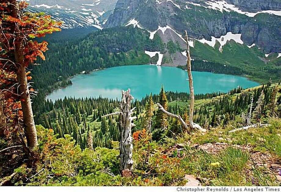 It�s a perfect picture of Grinnell Lake, at least according to consummate documentarian Ken Burns. Photo: Christopher Reynolds, Los Angeles Times