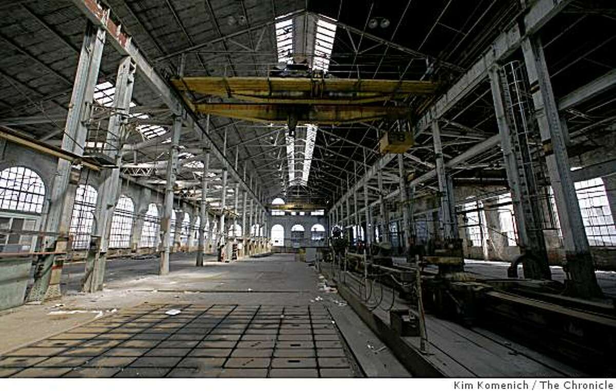 The former Union Iron Works Foundary and Ship Building is one of the historically significant buildings at Pier 70 in San Francisco, Calif. The area is the site of several now defunct shipbuilding companies, some dating back more than 150 years. Photographed on Sept. 4, 2008.