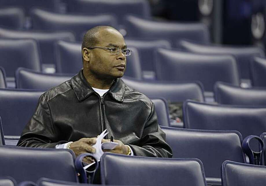 San Francisco 49ers head coach Mike Singletary looks on during the NFL football scouting combine in Indianapolis, Saturday, Feb. 27, 2010. Photo: Darron Cummings, AP