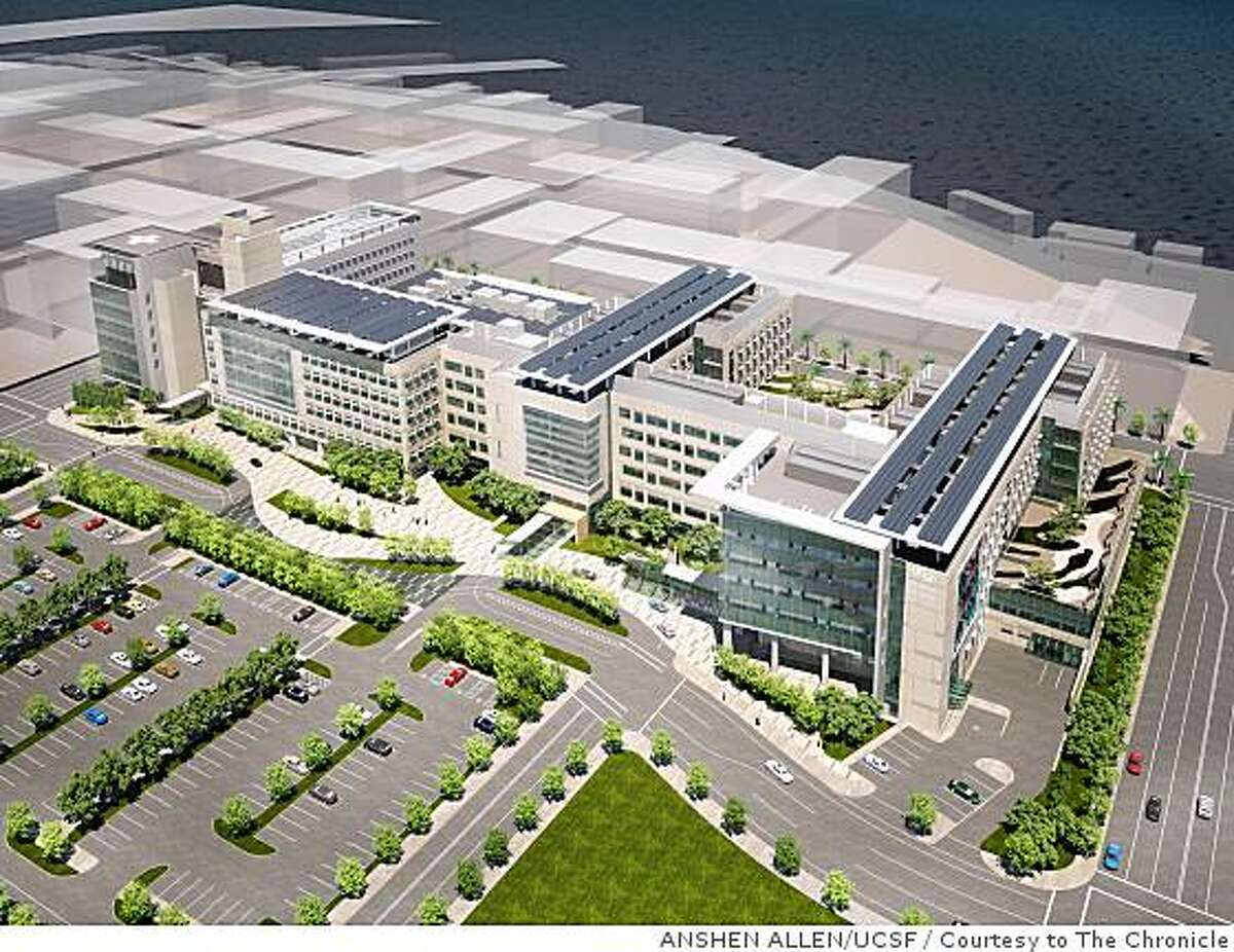 This is a rendering of UCSF Mission Bay.