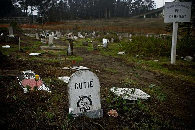The Pet Cemetery in the Presidio seen on Friday, Nov. 6, 2009 is at the corner of McDowell Ave. and Cowles St.  Military personnel stationed in the presidio buried their deceased pets here and provided their own grave markers. Photo: Russell Yip, The Chronicle